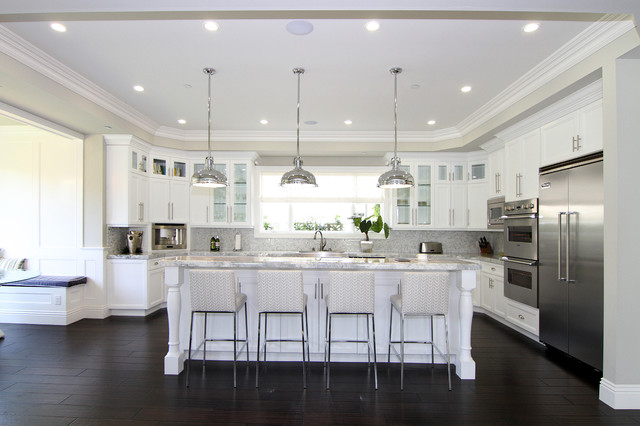 Pacific Palisades Neo Traditional Contemporary Kitchen
