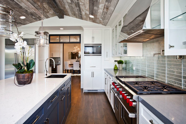 Example of a transitional kitchen design in Los Angeles