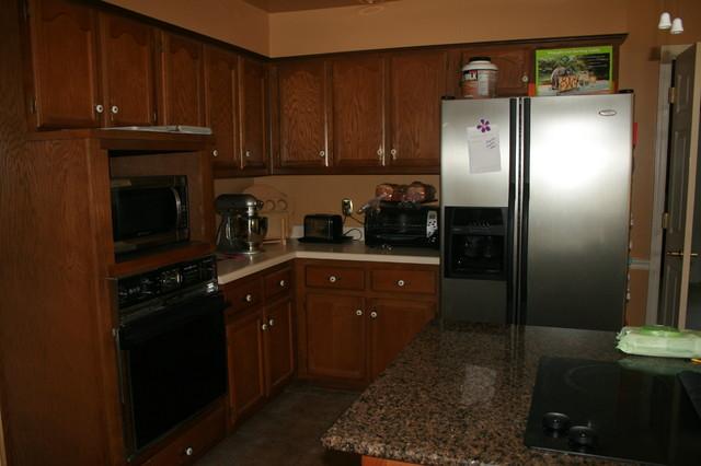 Paint And Glaze Oak Kitchen Cabinets