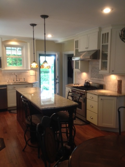 Painted & Cherry Shaker Kitchen Cabinets | CliqStudios - Contemporary - Kitchen - Minneapolis ...
