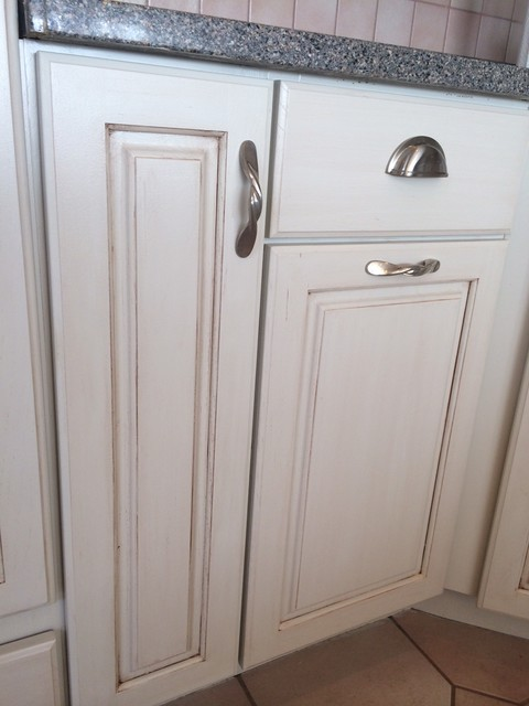 Painted and Glazed outdated Honey Oak Cabinets - Traditional - Kitchen - baltimore - by Vintage ...