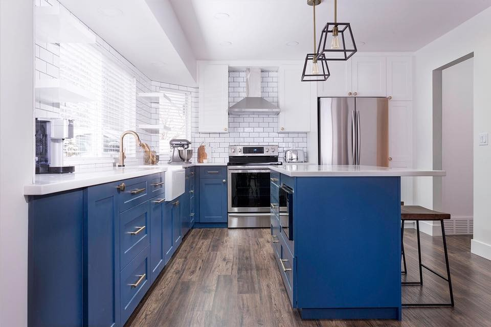 Painted Blue & White Kitchen