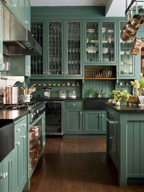 Painted Cabinets Traditional Kitchen Columbus