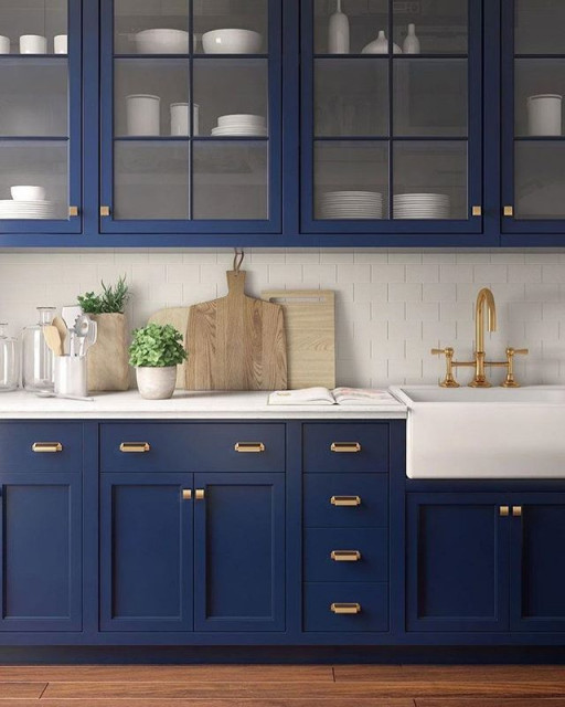 Painted Cabinets Fusion Kitchen