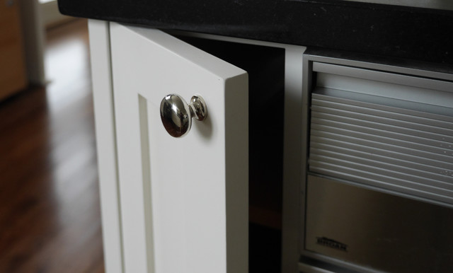 Painted cabinets natural to white enamel for White enamel kitchen cabinets