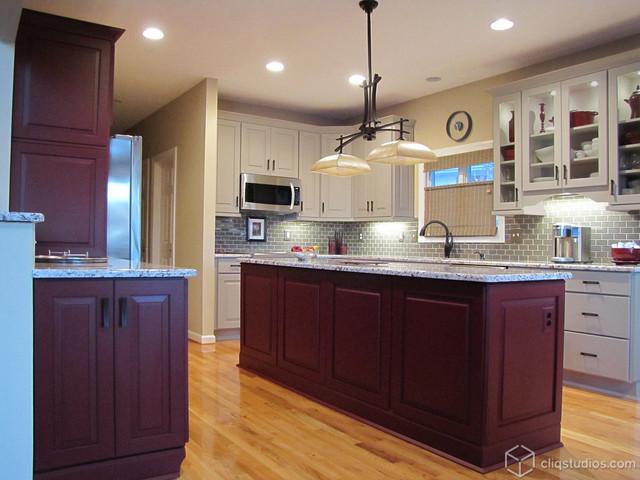 Painted Garnet and Urban Stone Kitchen - Contemporary - Kitchen - Charleston - by CliqStudios