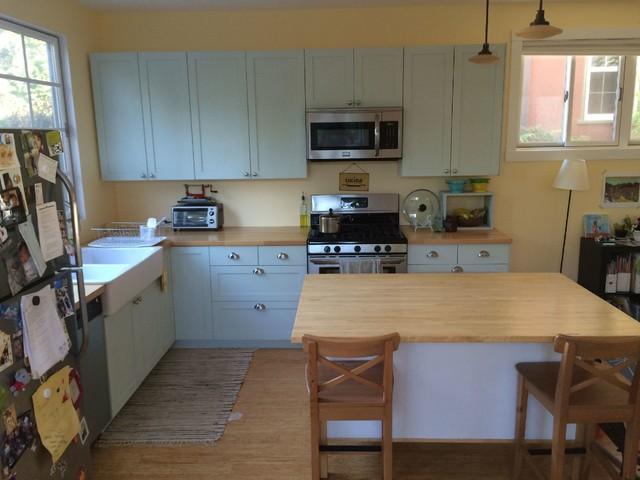 Painted IKEA Kitchen Cabinets - Farmhouse - Kitchen - San ...