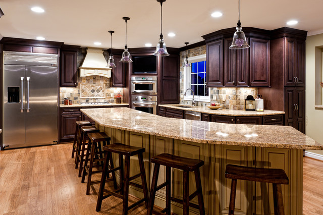 Painted Island with Dark Stain Cabinets - Traditional - Kitchen - Other - by Borchert Kitchen & Bath
