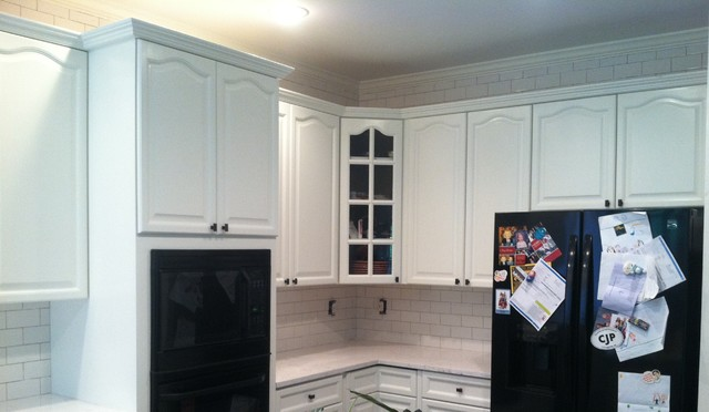 Painted Kitchen cabinets- by Fox Brothers Painting - Traditional - Kitchen - Charlotte - by Fox ...