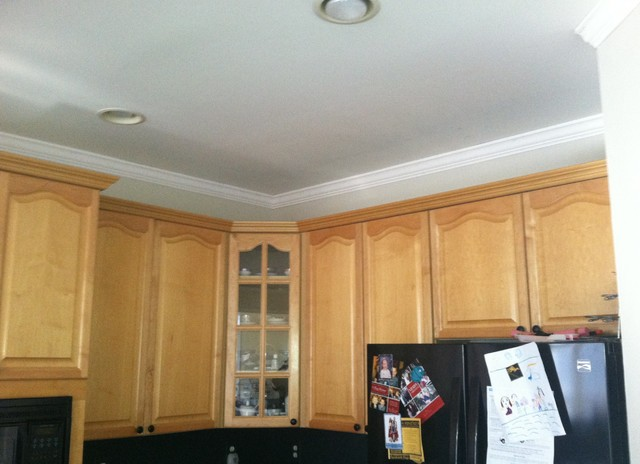 Painted Kitchen cabinets- by Fox Brothers Painting traditional-kitchen