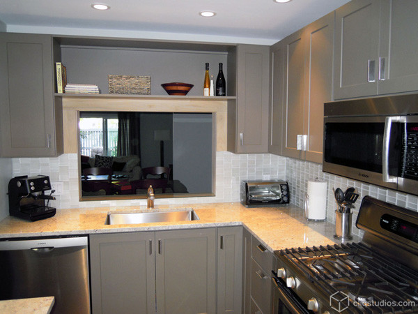 Painted Kitchen Cabinets contemporary-kitchen
