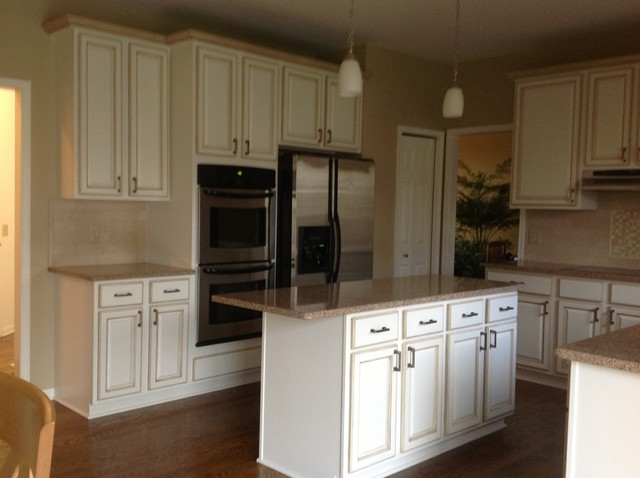 painted kitchen cabinets traditional kitchen detroit