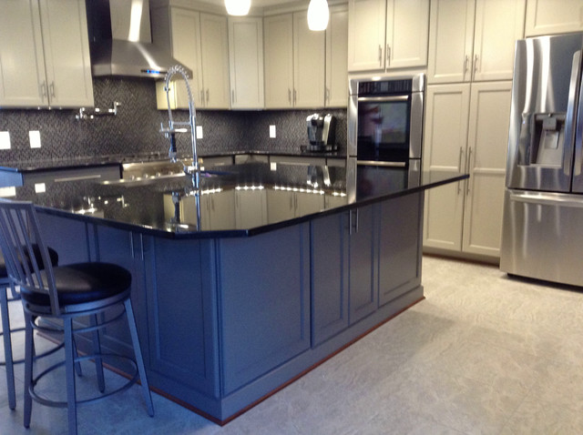 Painted Kitchen Cabinets With Extra Large Island Contemporary Kitchen Dc Metro By Tin