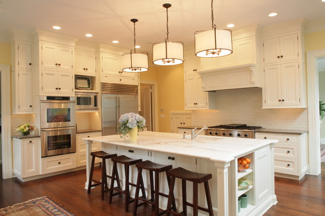 Wonderful Kitchen   Traditional Kitchen Idea In New York With Stainless Steel  Appliances, Recessed Panel