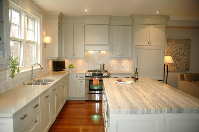 Ideal Transitional Kitchen by Style de Vie Design