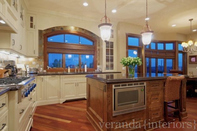 Painted kitchen with alder island traditional kitchen
