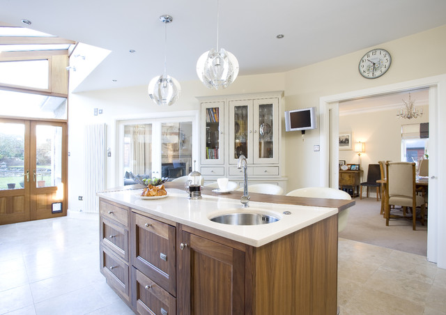 Magnificent Painted Kitchen With Walnut Transitional Kitchen Home Interior And Landscaping Ologienasavecom