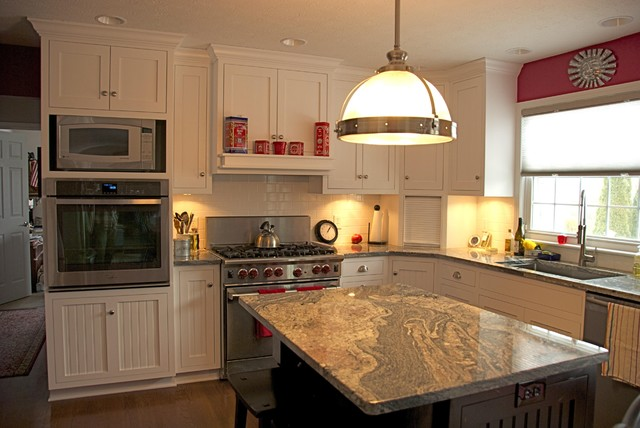 Painted Maple Shaker Kitchen traditional kitchen