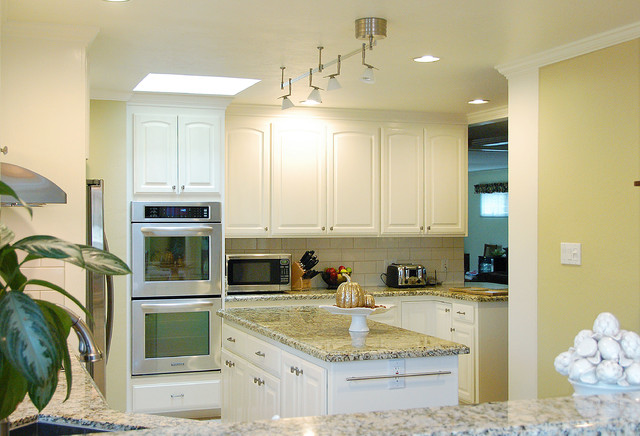 painted oak cabinets traditional kitchen san