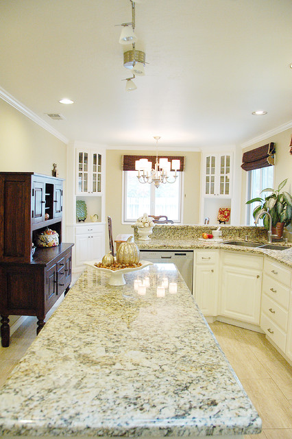 Painted Oak Cabinets traditional-kitchen
