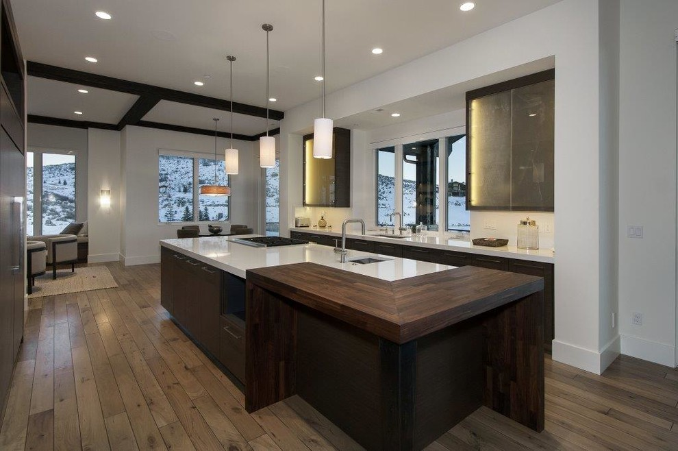 Inspiration for a contemporary kitchen remodel in Salt Lake City