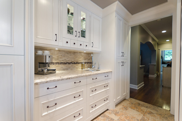 Painted Victorian Kitchen - Traditional - Kitchen - other metro - by Nickels Cabinets