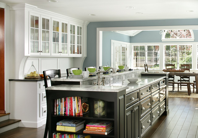 Contemporary Traditional Kitchen painted white - contemporary/traditional - contemporary - kitchen