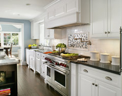 Painted White - Contemporary/Traditional contemporary kitchen
