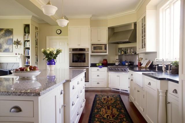 Painted White Farm House Family Kitchen traditional-kitchen