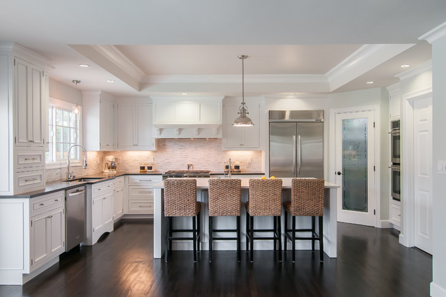 Painted White Inset - Transitional - Kitchen - San Francisco - by Lazy ...