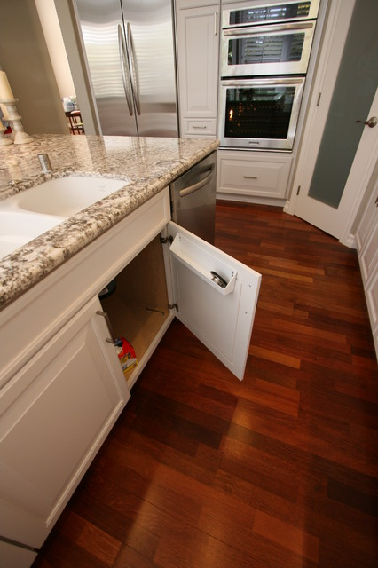 Painted White Traditional Kitchen with Large Island in Huntington Beach, CA traditional-kitchen