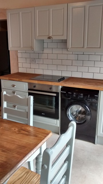 Painting orange pine cabinets - Traditional - Kitchen - east midlands - by The Kitchen Paintress
