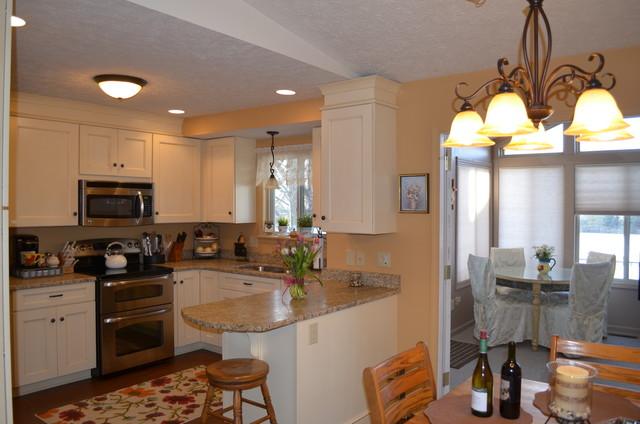 pale yellow kitchen traditional kitchen