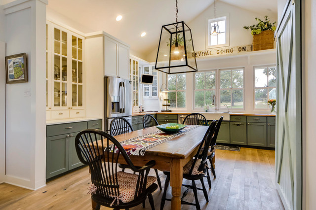 farmhouse kitchen by van wicklen design - Farmhouse Kitchen Table