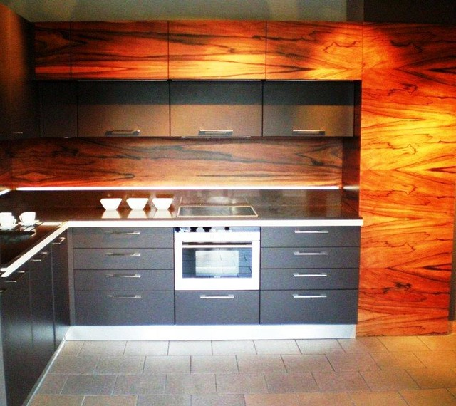 Palisander exotic wood cabinetry projects contemporary for Custom wood kitchen cabinets
