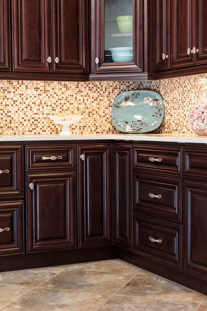 Palm Beach Dark Chocolate Kitchen Cabinets Traditional