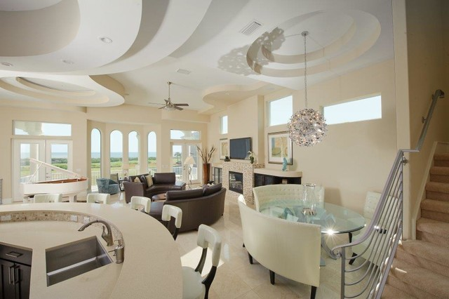 Palm Coast Modern Beach Home Contemporary Kitchen Jacksonville By Anastasia Design Group