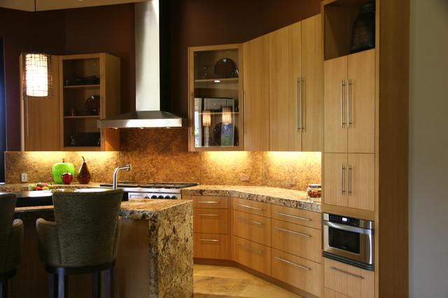 Palm Desert Rift Oak Contemporary Kitchen Los Angeles By Doopoco Enterprises