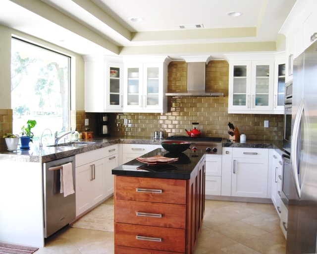 Palm Desert Transitional Kitchen Transitional Kitchen Los Angeles By Cedar Hill Cabinets