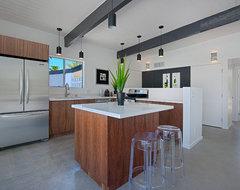 Palm Springs Mid-century Renovation modern-kitchen