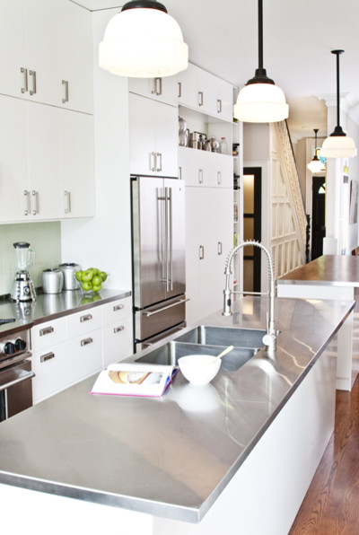 Modern Kitchen With Stainless Steel