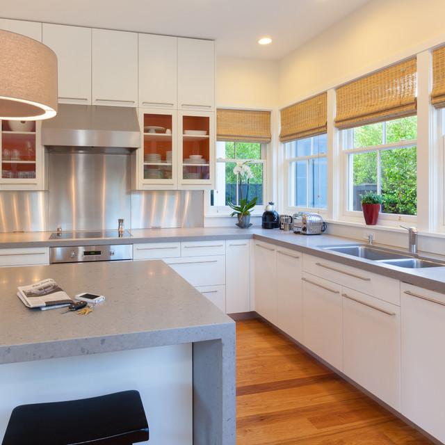 Palo Alto Custom Home Contemporary Kitchen San Francisco By Midland Cabinet Company