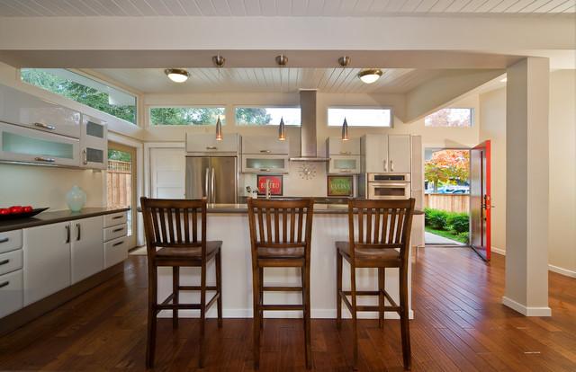 Palo Alto Eichler full remodel - Traditional - Kitchen ...
