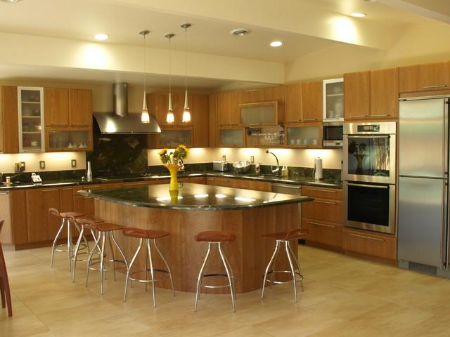 Cherry contemporary kitchen in Palo Alto contemporary-kitchen