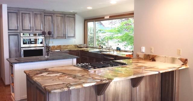 Palomino Granite and Soapstone Kitchen traditional-kitchen