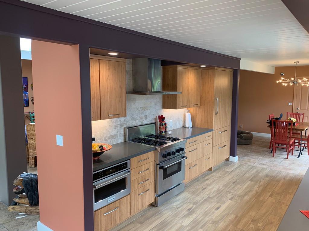 Panoramic Eichler Kitchen