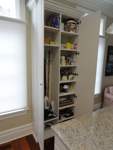 Pantry Broom Closet Traditional Kitchen New York