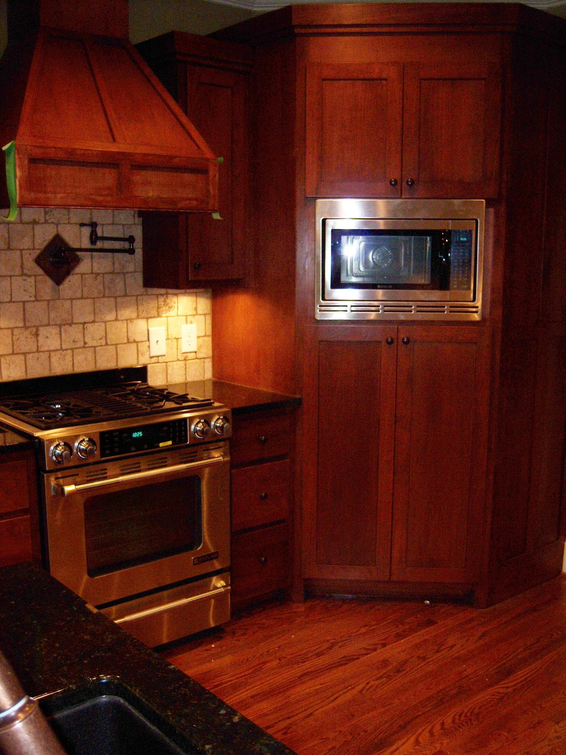 Pantry Cabinet, Pot Filler Valve, Slide In Range