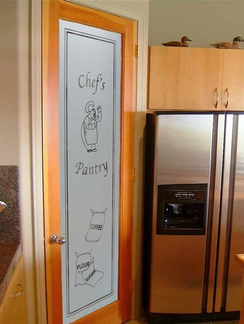 Pantry Doors - Sans Soucie Happy Chef & Sacks Glass Pantry Door - Eclectic - Kitchen - other ...