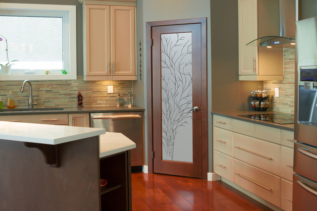 Pantry Doors that YOU Design! sp - Contemporary - Kitchen ...
